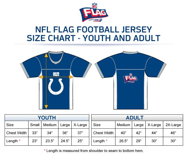 how to determine jersey size nfl
