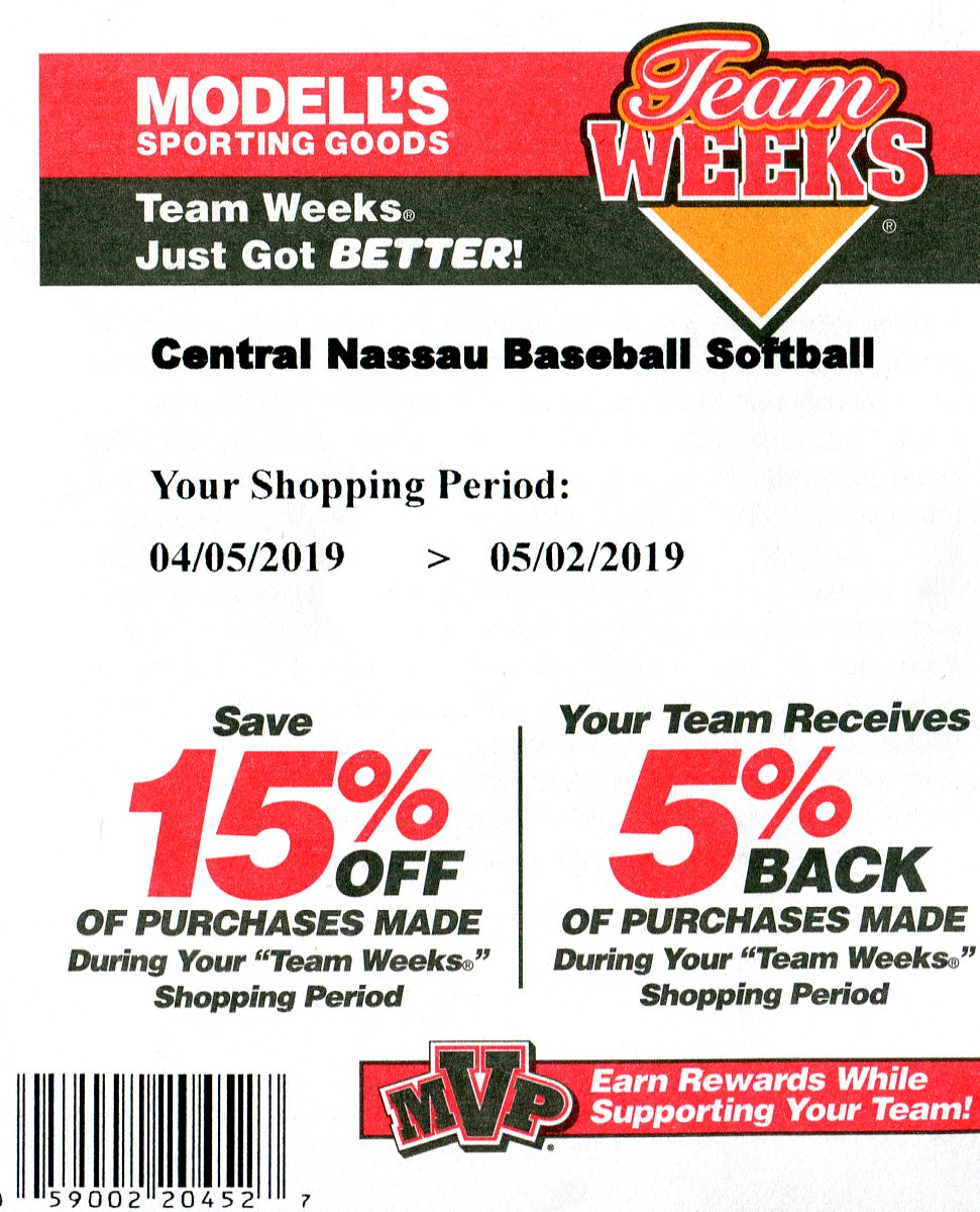 Modells 2019 coupon