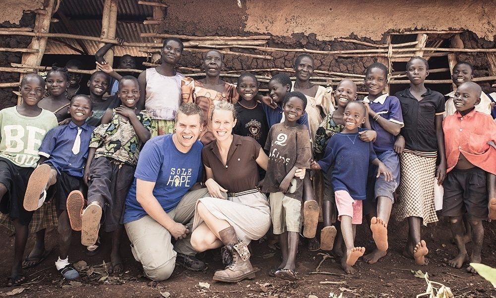 Dru and Asher Collie started Sole Hope, a nonprofit devoted to giving shoes to kids in Uganda to prevent jigger infections.