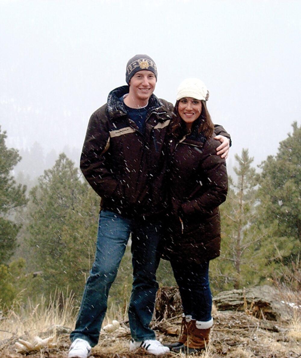Author Stephanie Sansone with Alex Metoxen enjoying the wonders of creation in Colorado