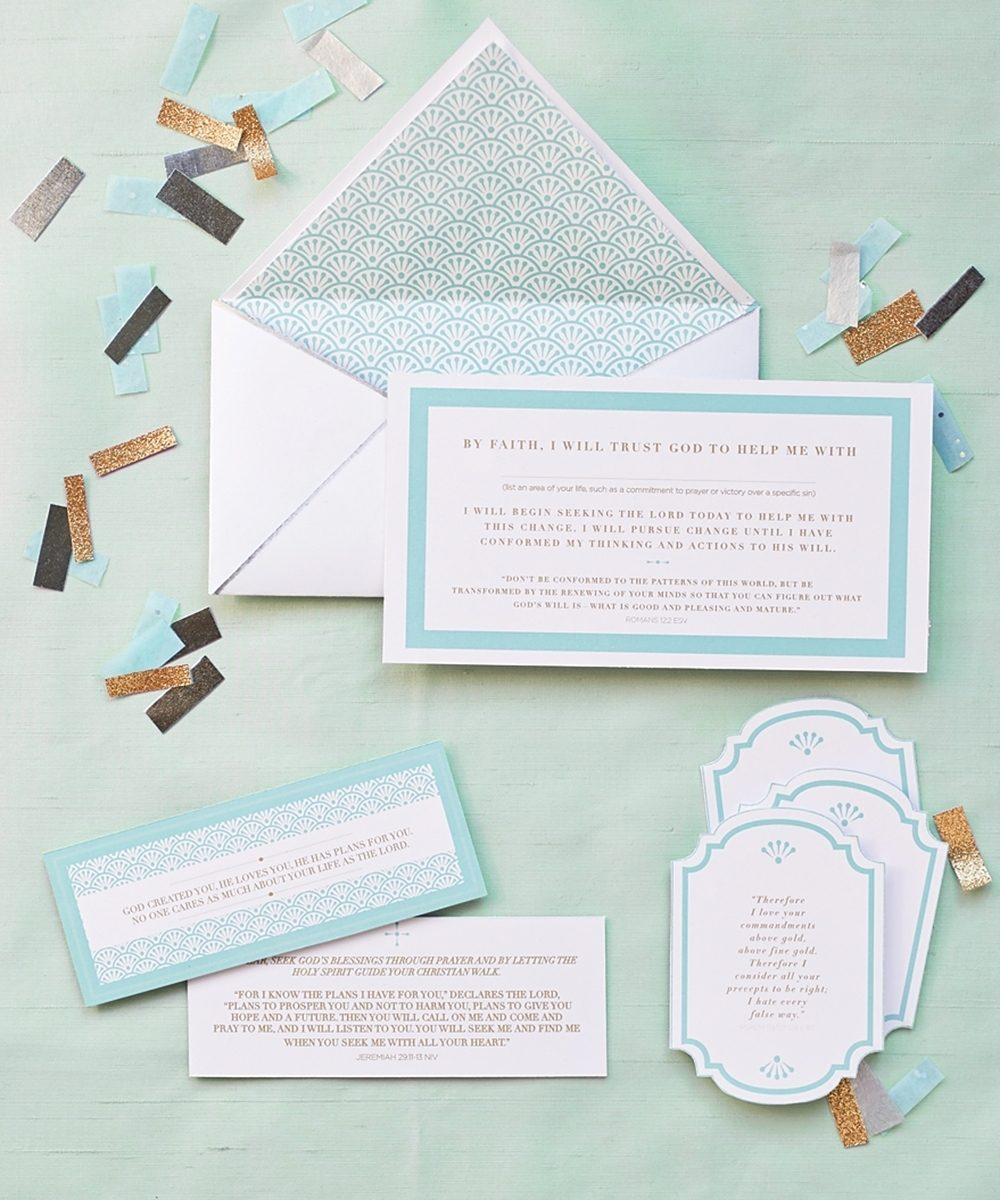 New year's resolutions cards