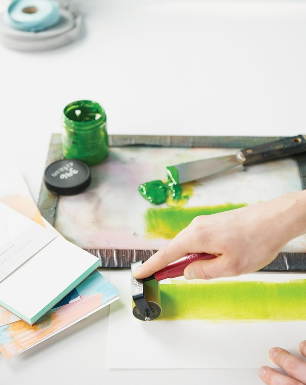 ink roller testing green ink