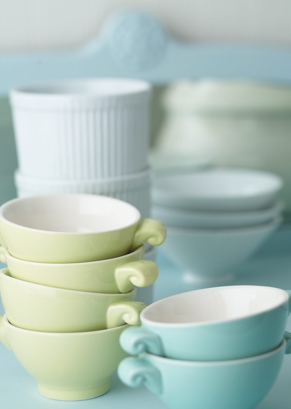 Empty soup bowls