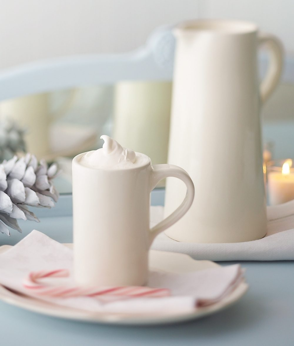 Finish the meal with a refreshing final course. Set out pots of hot cocoa and coffee with a selection of homemade or purchased treats for an easy dessert.