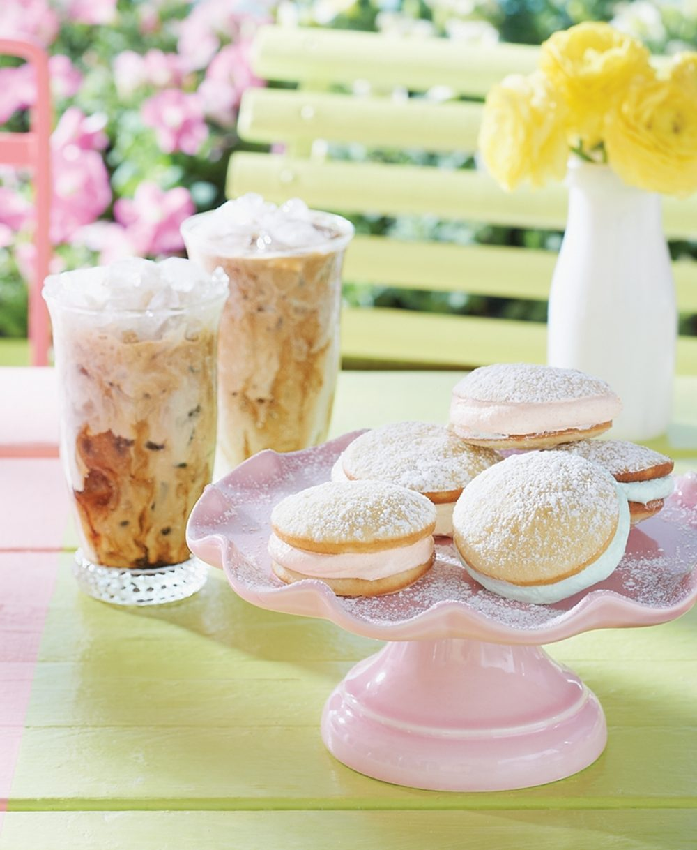 Fruity Whoopie Pies are served with Arctic Coffee.