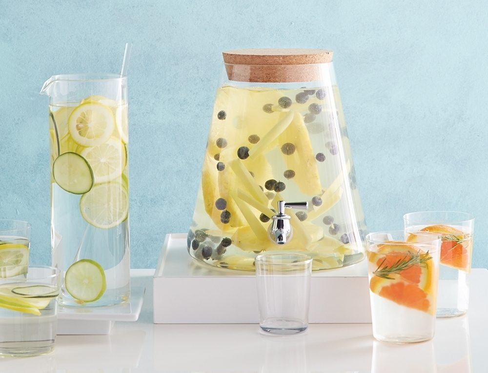 Great tasting health waters aren't only for spas. You can have these luxuries at home, too.