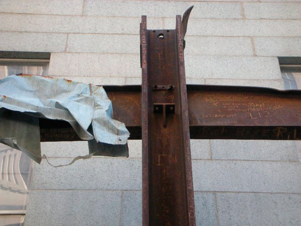 The Cross at Ground Zero is a highlight of the National September 11 Memorial. Following the attack, this 20-foot cross—somehow formed by steel construction beams—was found in the rubble.