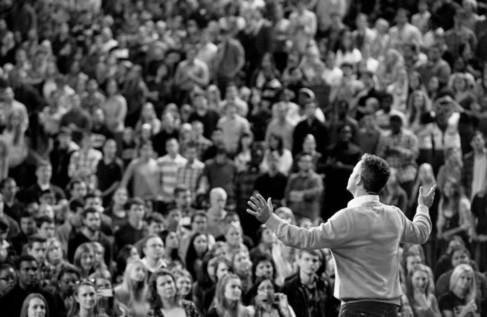 When Kirk Cameron speaks before large audiences these days, it is usually for his marriage ministry, Love Worth Fighting For.