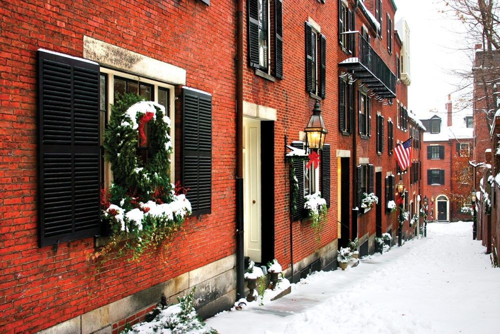 Walk through the 1700s architecture in Boston's Beacon Hill neighborhood.