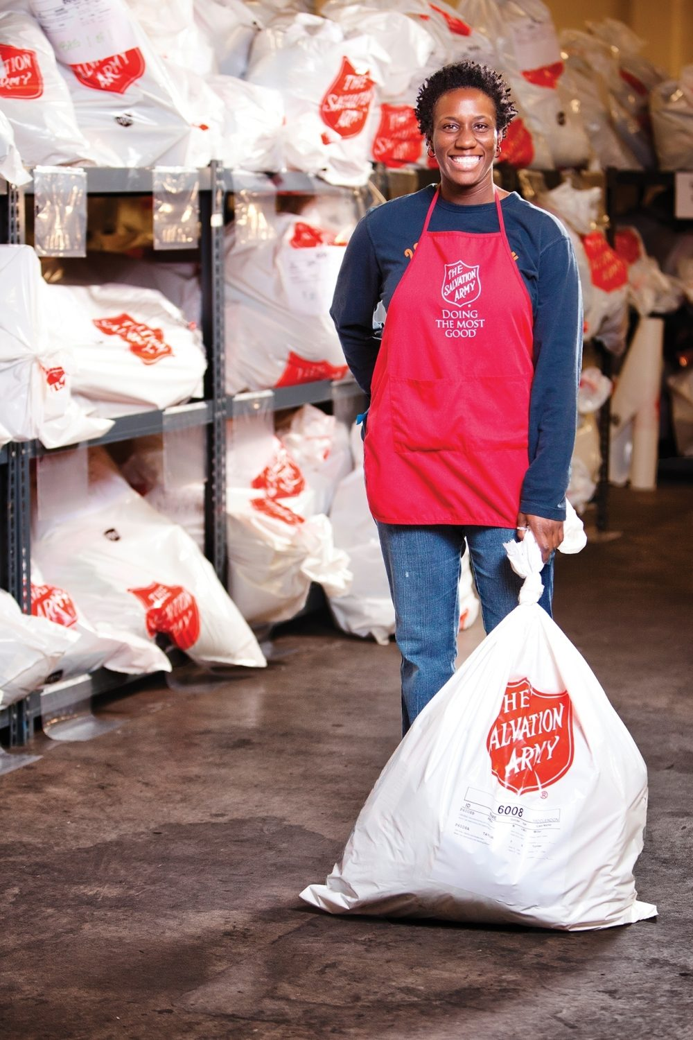 """Volunteers like this woman are critical partners in helping fulfill the Army promise of """"Doing the Most Good."""""""