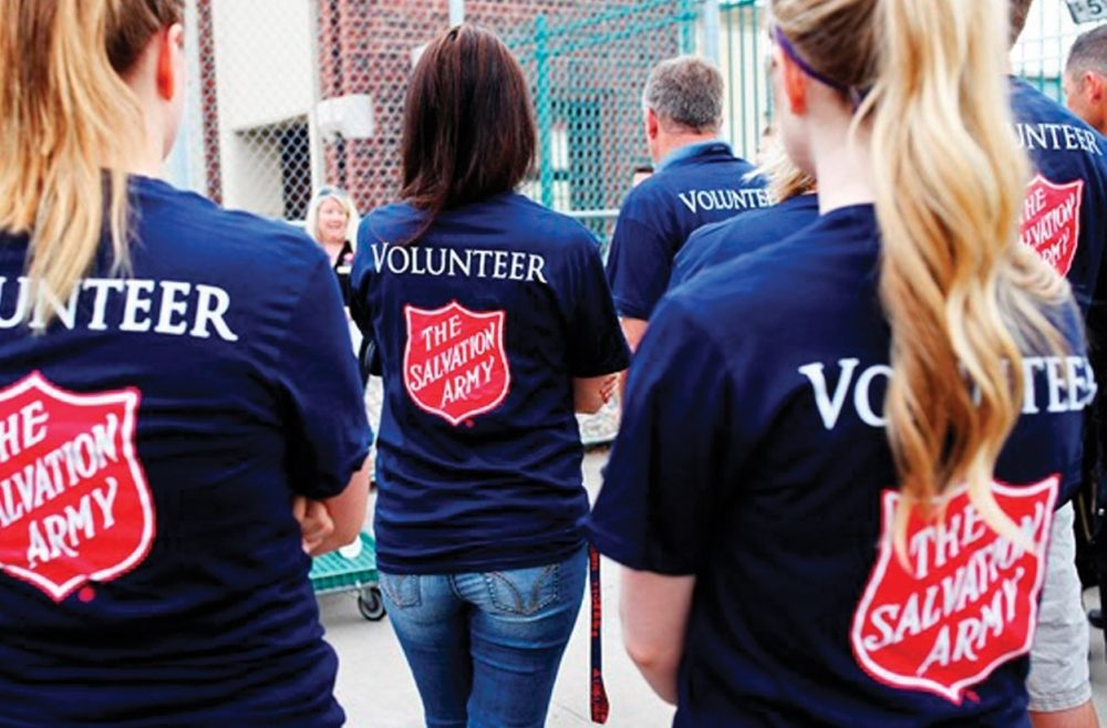 More than 3 million volunteers assisted the Salvation Army in 2014.