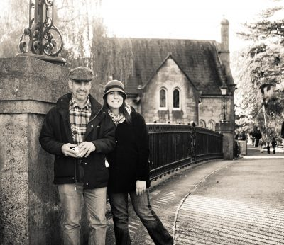 Author Elena Kaloupek and her father, Ron, on a trip to County Cork in Ireland.