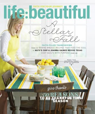 Cover of Life:Beautiful magazine Fall 2014