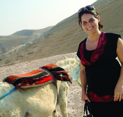 Me and a bedouin's donkey in the mountains outside Jerusalem.