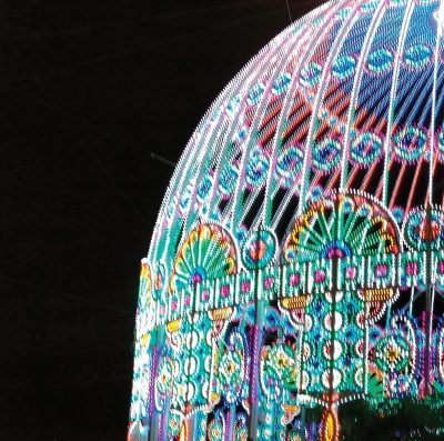 This lighted dome marked the entrance to the Jerusalem Light Festival just outside Jaffa Gate.
