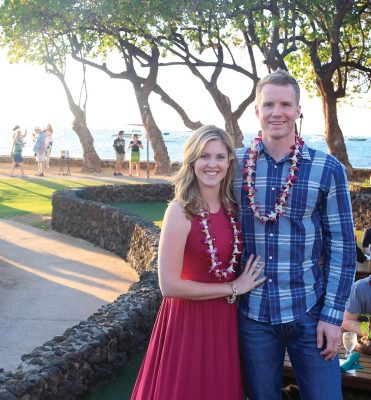 Britni and Adam Ventling in Hawaii.