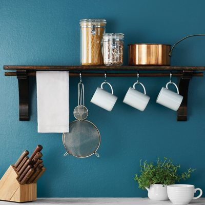 DIY kitchen shelf
