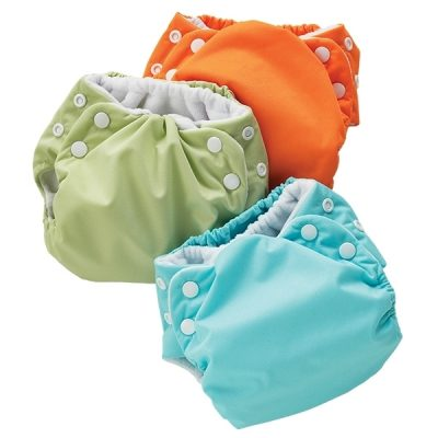 Colorful all-in-one diapers