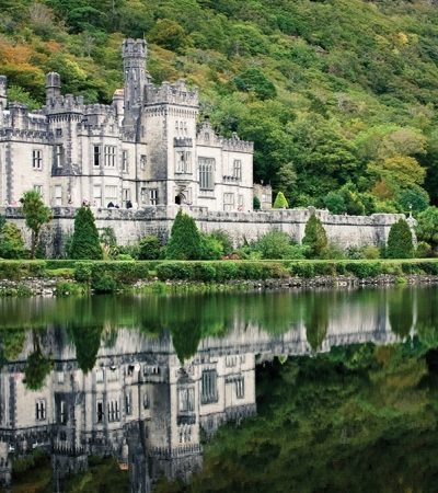 Kylemore Abbey, in the countryside of Connemara, offers hosted tours and strolls in the gardens.