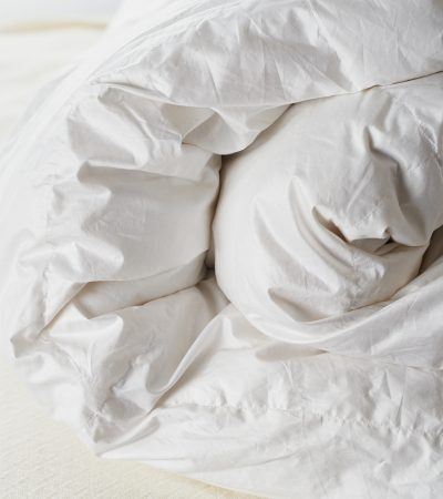 The best comforters are premium goose down sterilized to be hypoallergenic or a high-quality synthetic.