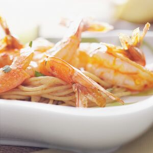 Photo for Chili-Lime Shrimp recipe served over pasta