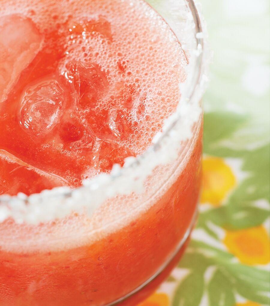 A closeup of Strawberry Fizzers recipe