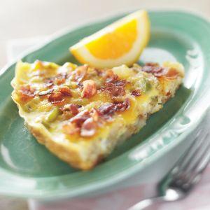 A slice of Denver Breakfast Skillet, a hearty spin on the Denver omelet.
