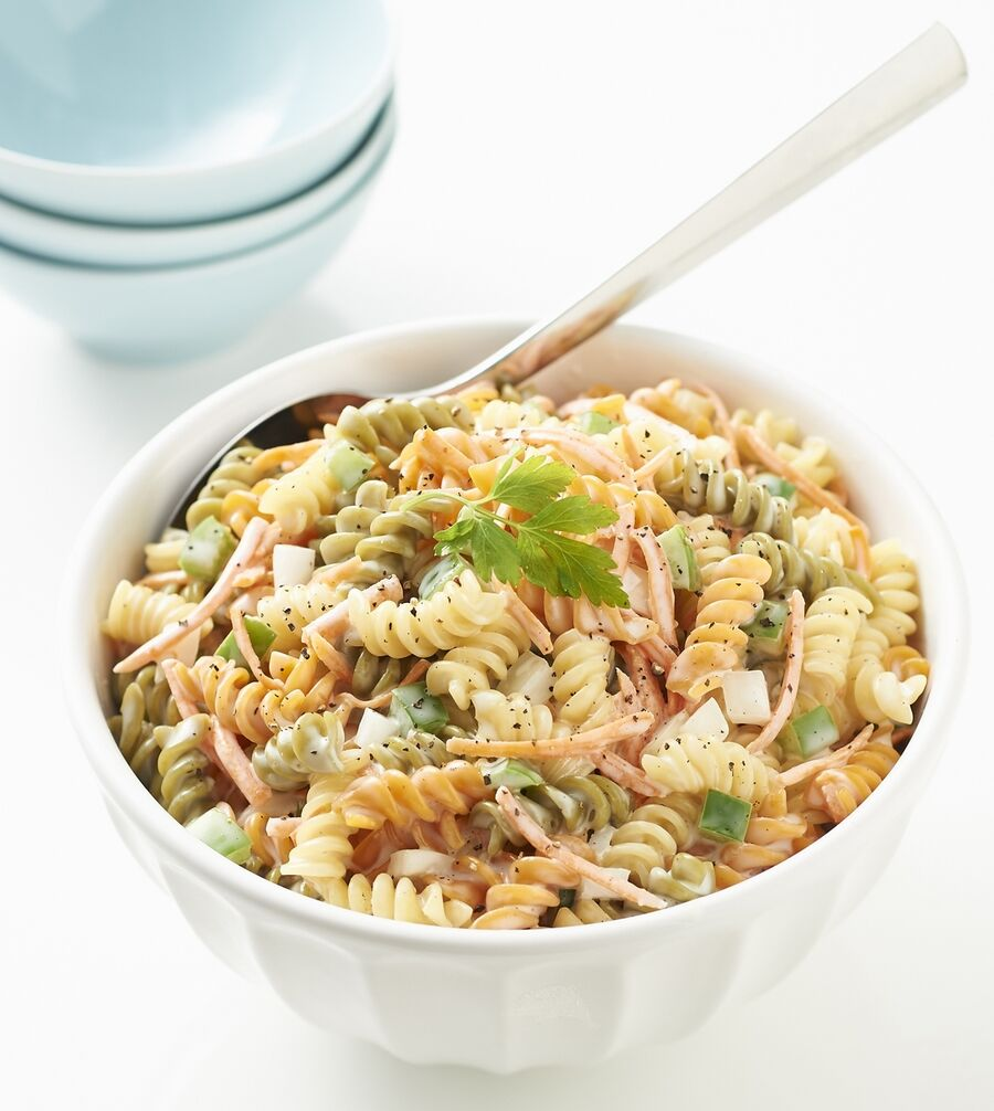 Tricolor Pasta Salad is an easy make-ahead recipe.