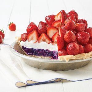 Mile-High Strawberry Pie