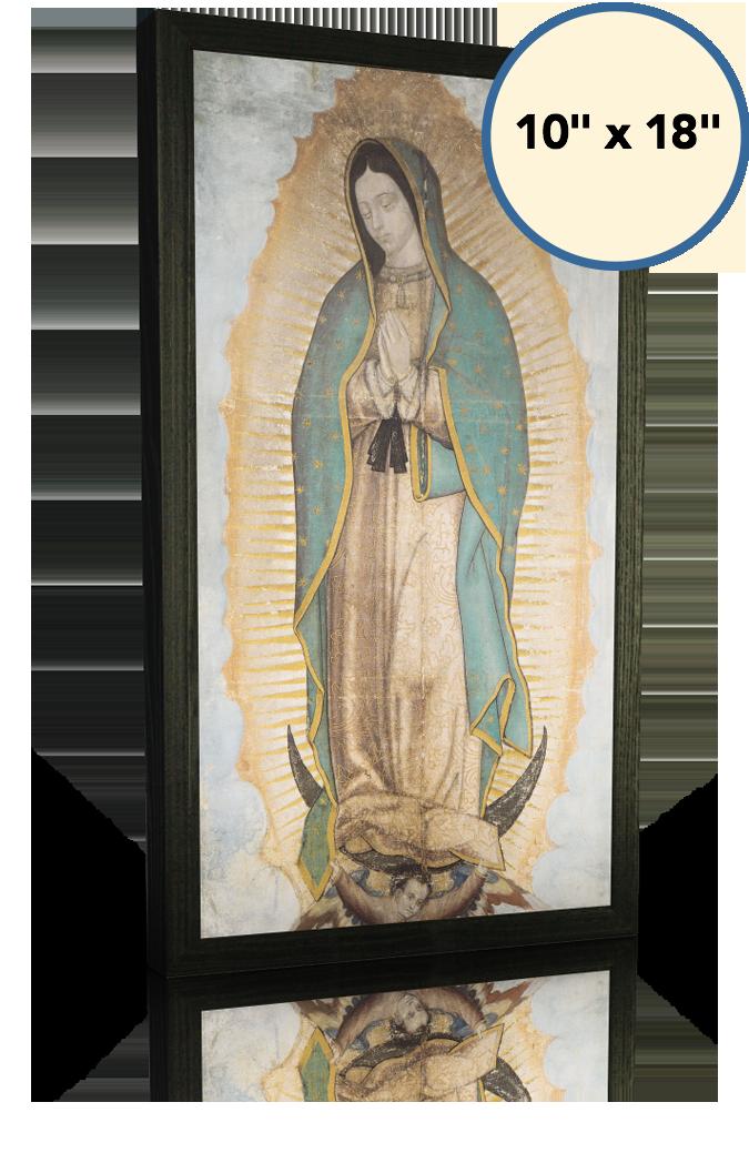 Our Lady of Guadalupe - 10x18 - Black Frame - Lighthouse Catholic Media