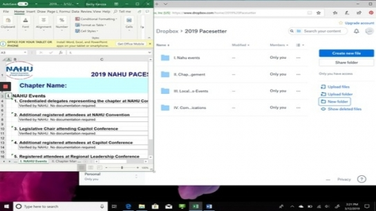 Using Dropbox for Your Award Applications - An Overview
