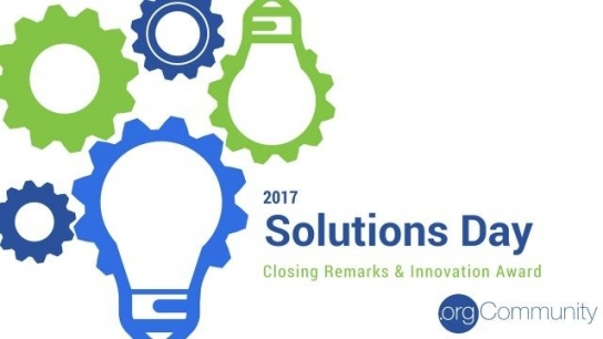 Solutions Day 2017 Closing Remarks & Innovation Award