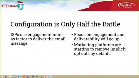 HighRoad U Webinar: Really Effective Email