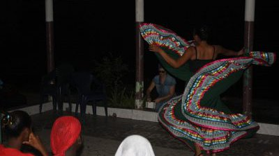 AgFo PCV Denise Garcia does some cross-culture work with her traditional Mexican dance routine, complete with twirly skirt!