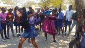 The learners at the primary school in my village prepare for a dance competition.