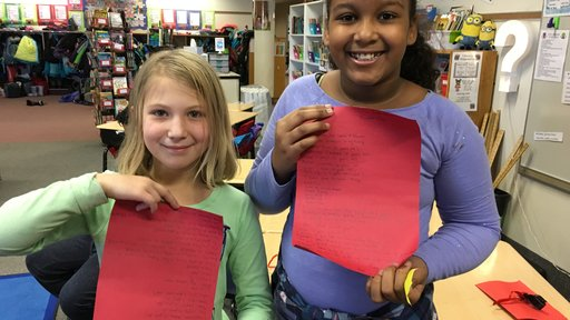 Minnesota students participating in World Wise Schools receive their letters from Albania.