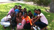 Group of youth leaders gathered for a photo after youth leadership training.