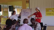 Peace Corps Volunteers facilitate a session at one of the CAT regional trainings