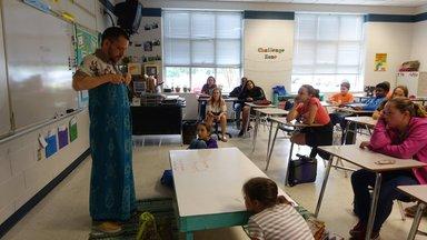 Evan wearing sarong