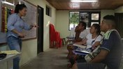 PCV Angell Kim teaching English to a group of tourist guides