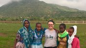Rhianna Ericson at Camp G.L.O.W. in Tigray with her students.