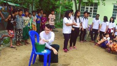 Handwashing demonstration