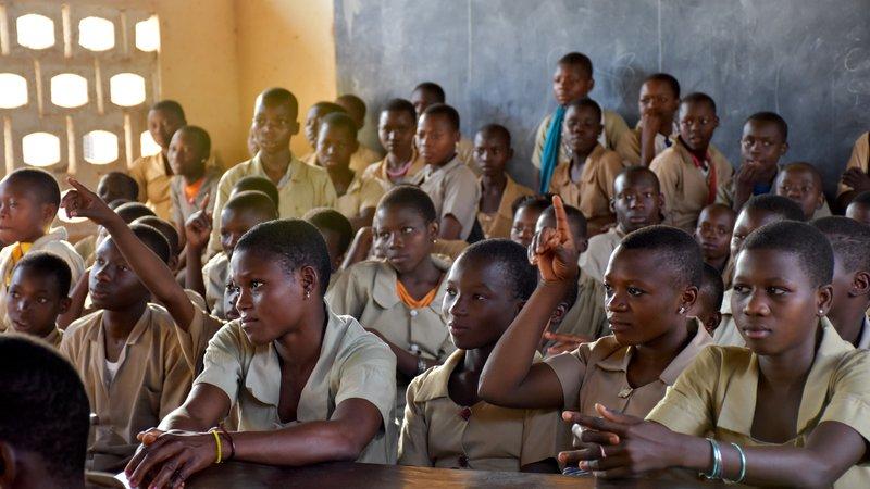 Students, Sinende, PC Benin