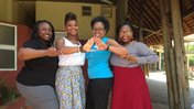 Peace Corps Volunteers and Delta Sigma Theta Sorority members in South Africa