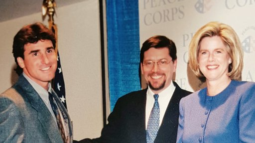 Ketover with former Peace Corps Director Mark Gearan and Tipper Gore, wife of Vice President Al Gore.