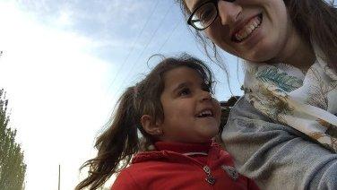 Sierra working with kids