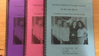English lesson plans textbook created by a Volunteer and her professional community.