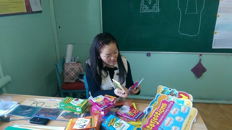 Ashley's students in Mongolia participated in a pen pal exchange with a classroom in the U.S.