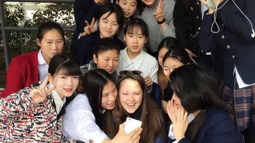 Being the first foreigner teacher ever at their school was a big deal to some of the students.