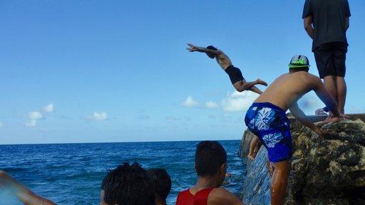 Boys on a beautiful Tongan afternoon